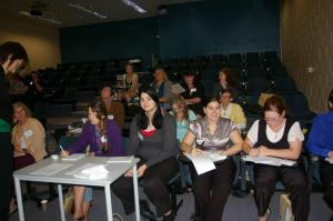 Eager writers at Marianne de Pierres workshop